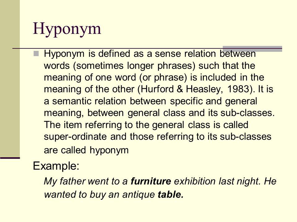 contoh soal tes essay hyponym