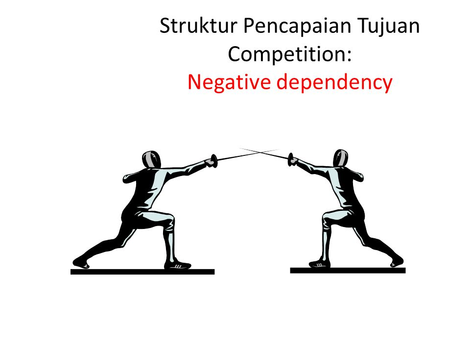 Struktur Pencapaian Tujuan Competition: Negative dependency