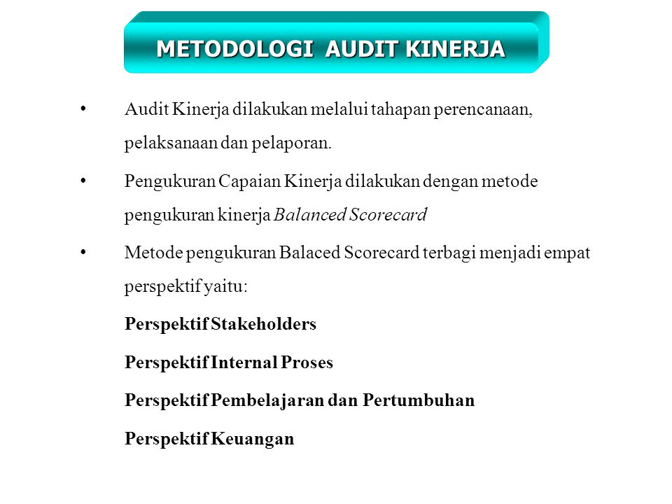 Audit Kinerja Dengan Menggunakan Ppt Download