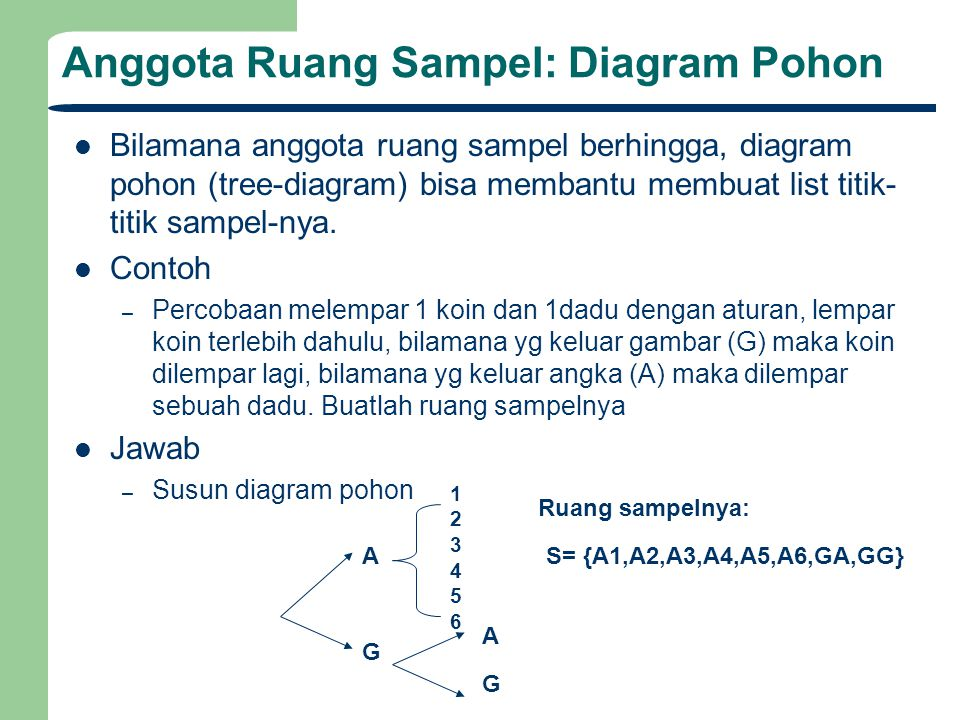 Analisa data statistik ppt download anggota ruang sampel diagram pohon ccuart