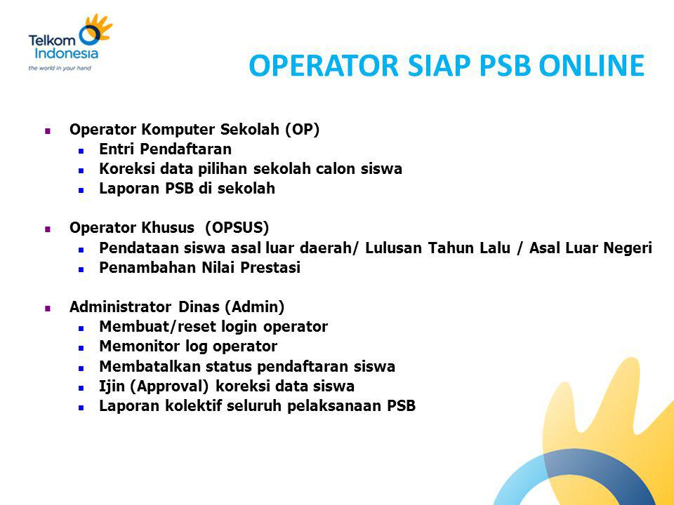 OPERATOR SIAP PSB ONLINE