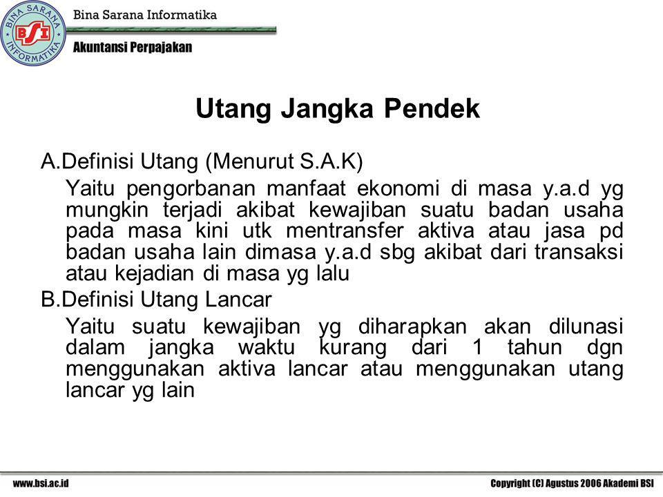 Investasi Jangka Panjang 2 Dan Utang Jangka Pendek Ppt Download