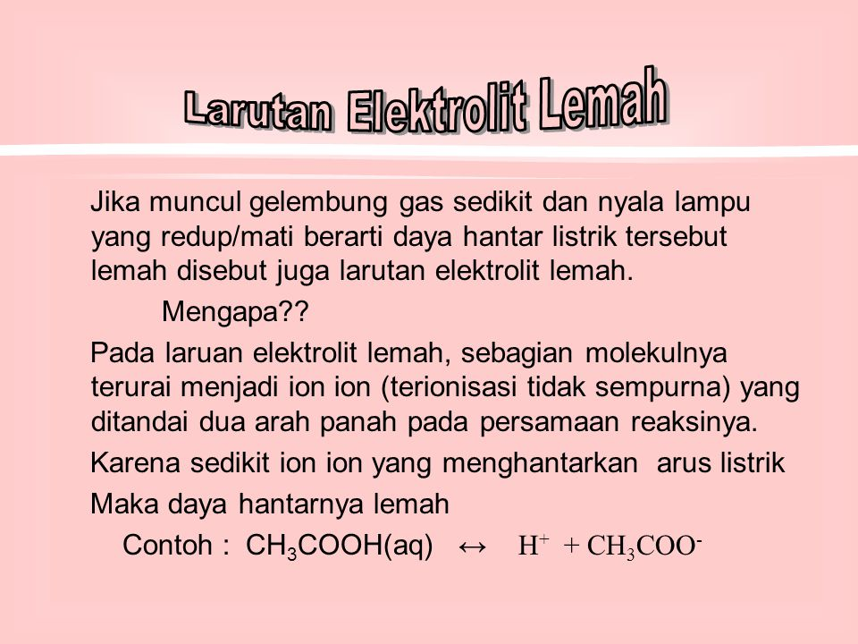 Larutan Elektrolit Dan Non Elektrolit Ppt Download