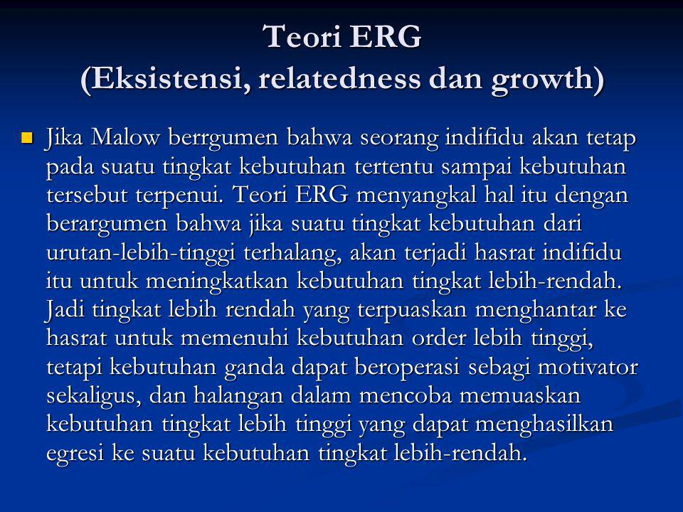 Teori ERG (Eksistensi, relatedness dan growth)
