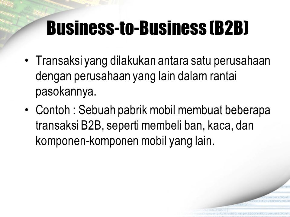 Business-to-Business (B2B)