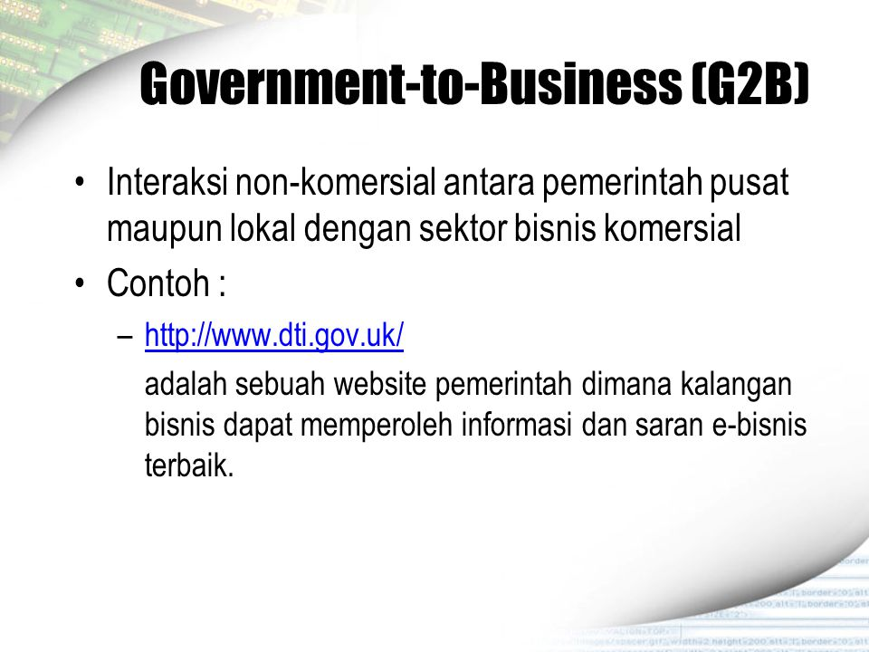 Government-to-Business (G2B)