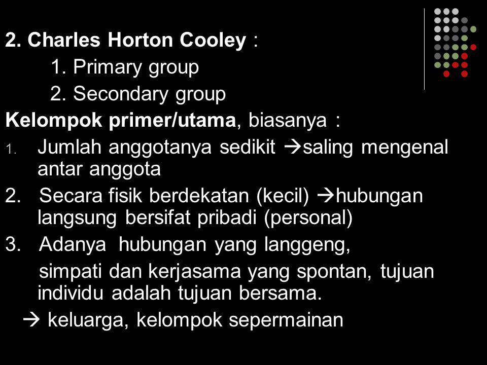 2. Charles Horton Cooley :