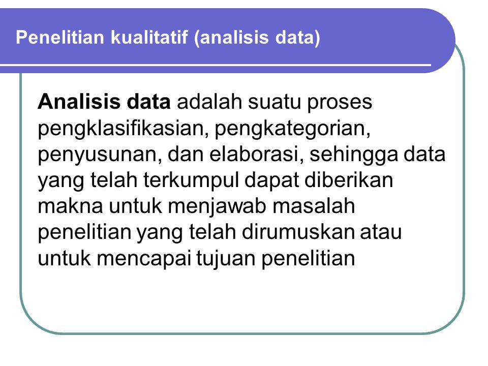 Penelitian kualitatif (analisis data)