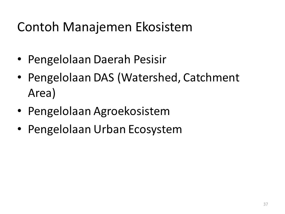 Manajemen Ekosistem Ppt Download