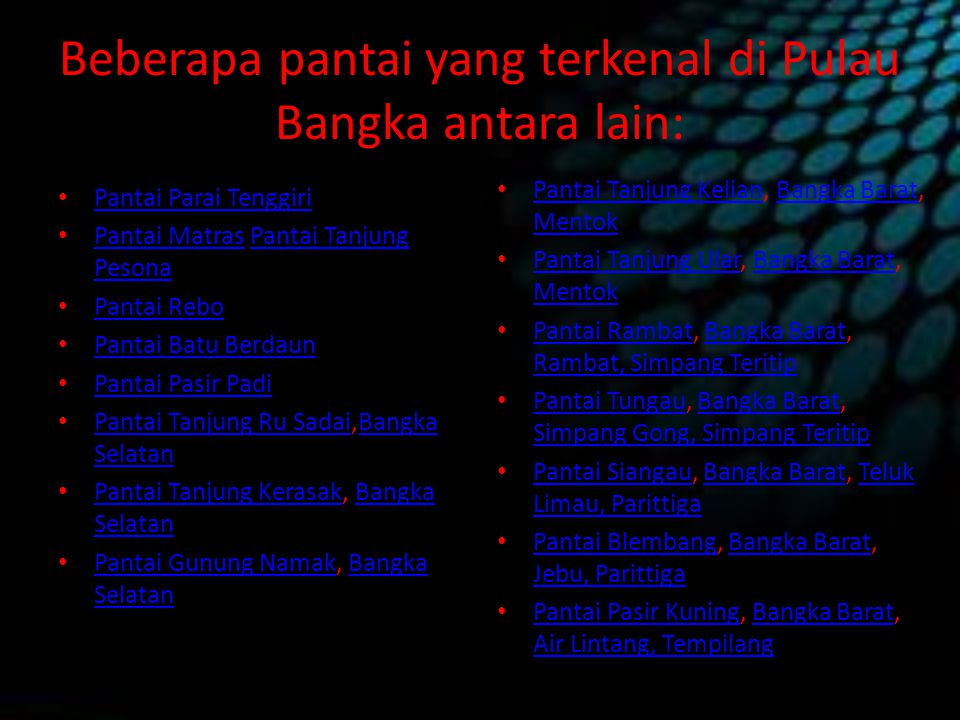 Welcome To Bangka Island Ppt Download