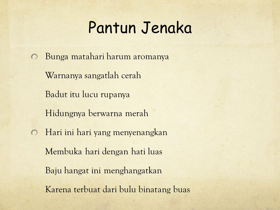 PANTUN By : Olivia / 5C. - ppt download