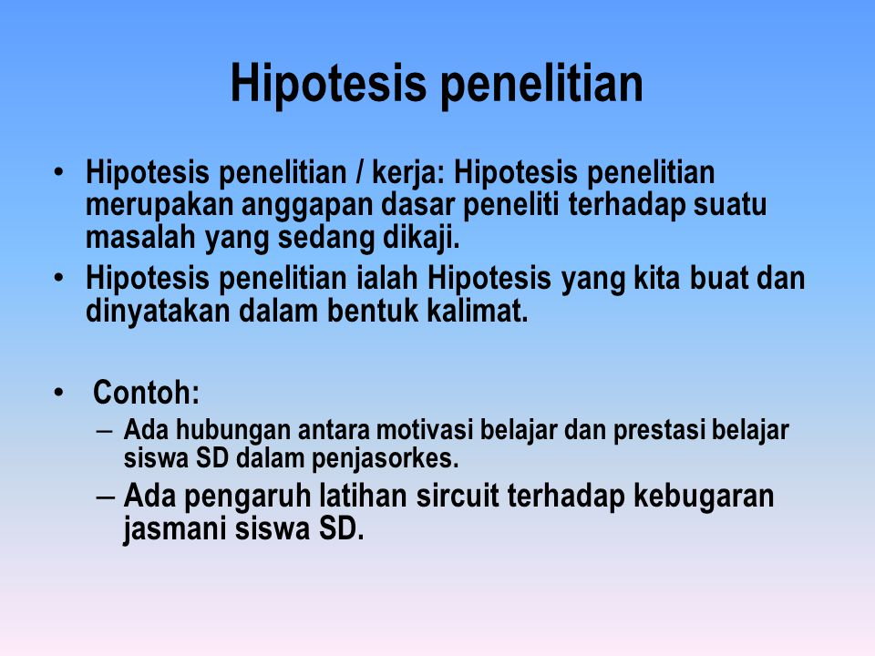 Menyusun Hipotesis Ppt Download