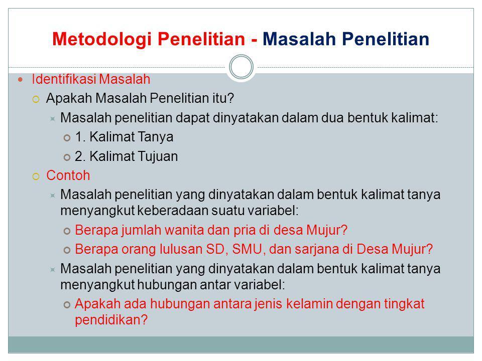 Bahasa Indonesia Metodologi Penelitian Teknik Penulisan Ilmiah