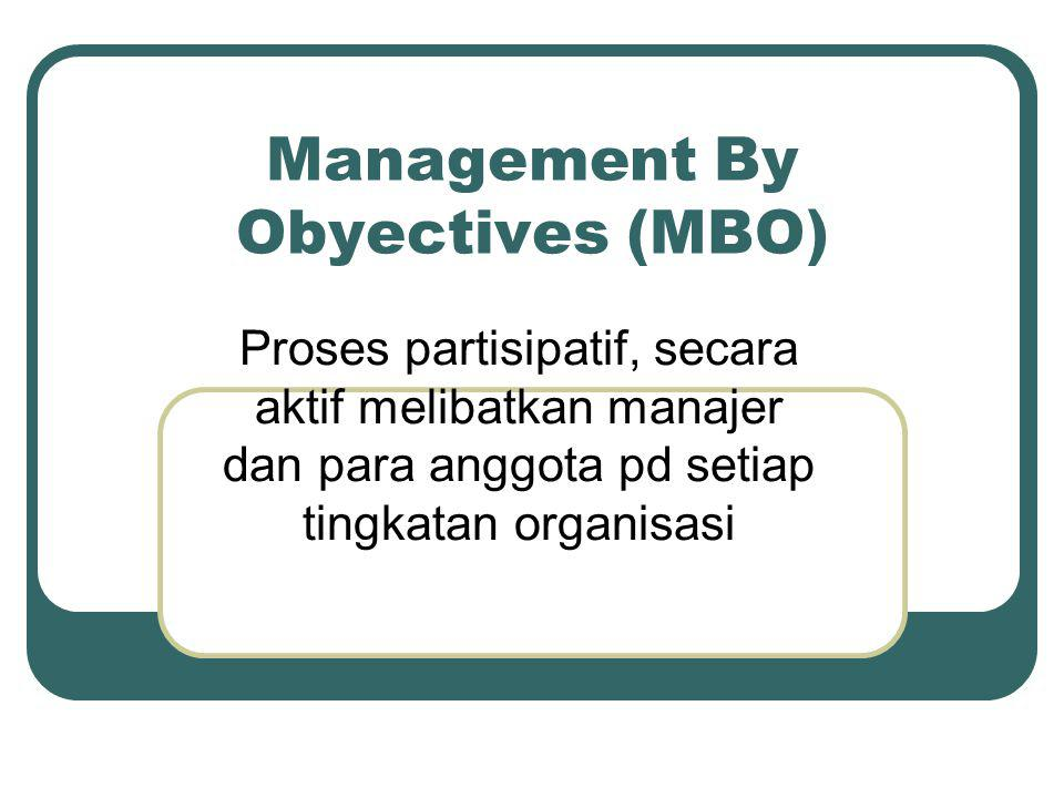 Management By Obyectives (MBO)