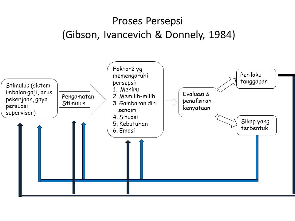 Proses Persepsi (Gibson, Ivancevich & Donnely, 1984)