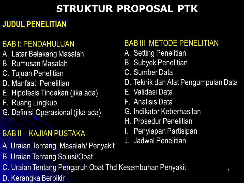 Struktur Proposal Ptk Judul Penelitian Bab Iii Metode Penelitian Ppt Download