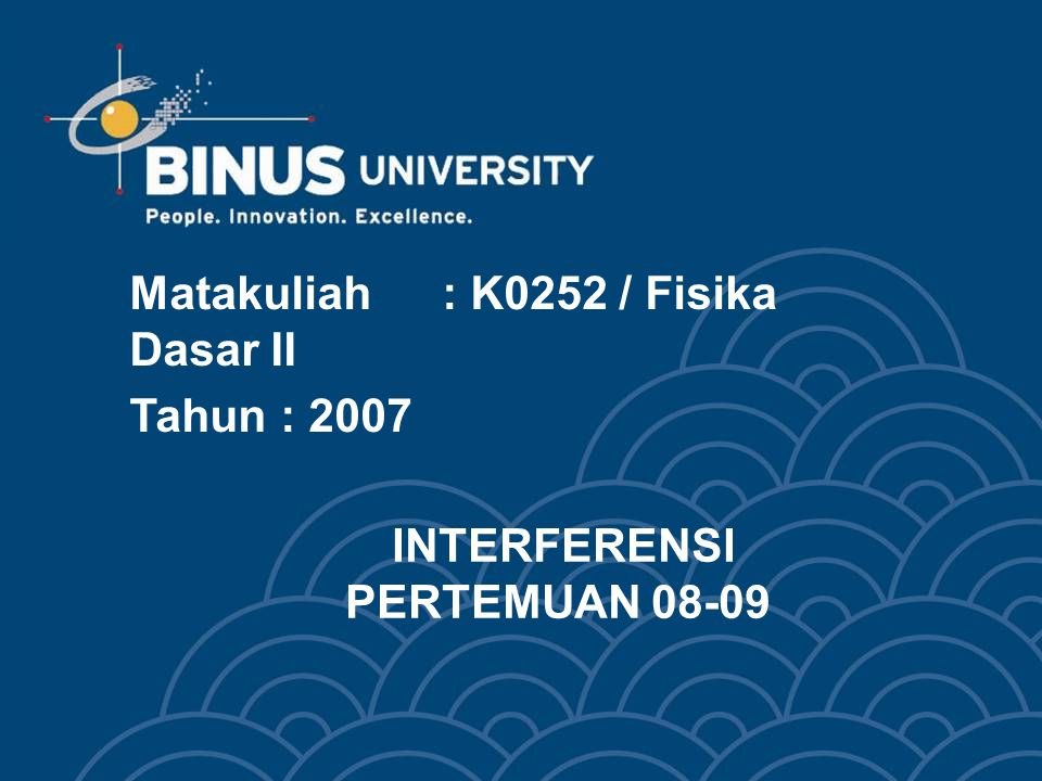 INTERFERENSI PERTEMUAN 08-09
