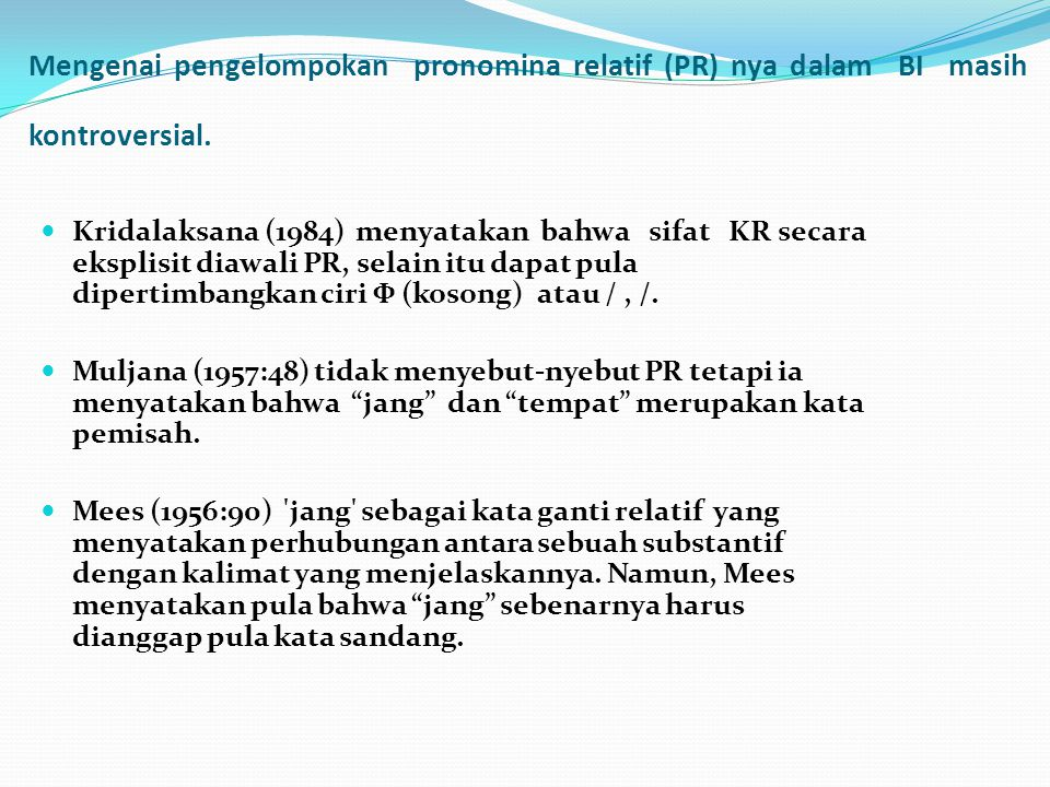Klausa Relatif Bahasa Jerman Dan Padanannya Dalam Bahasa Indonesia