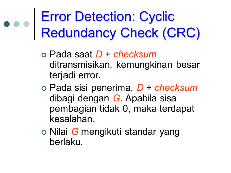 Error Detection: Cyclic Redundancy Check (CRC)
