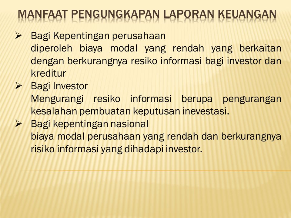 Manfaat Laporan Keuangan Bagi Manajemen Perusahaan Seputar Laporan