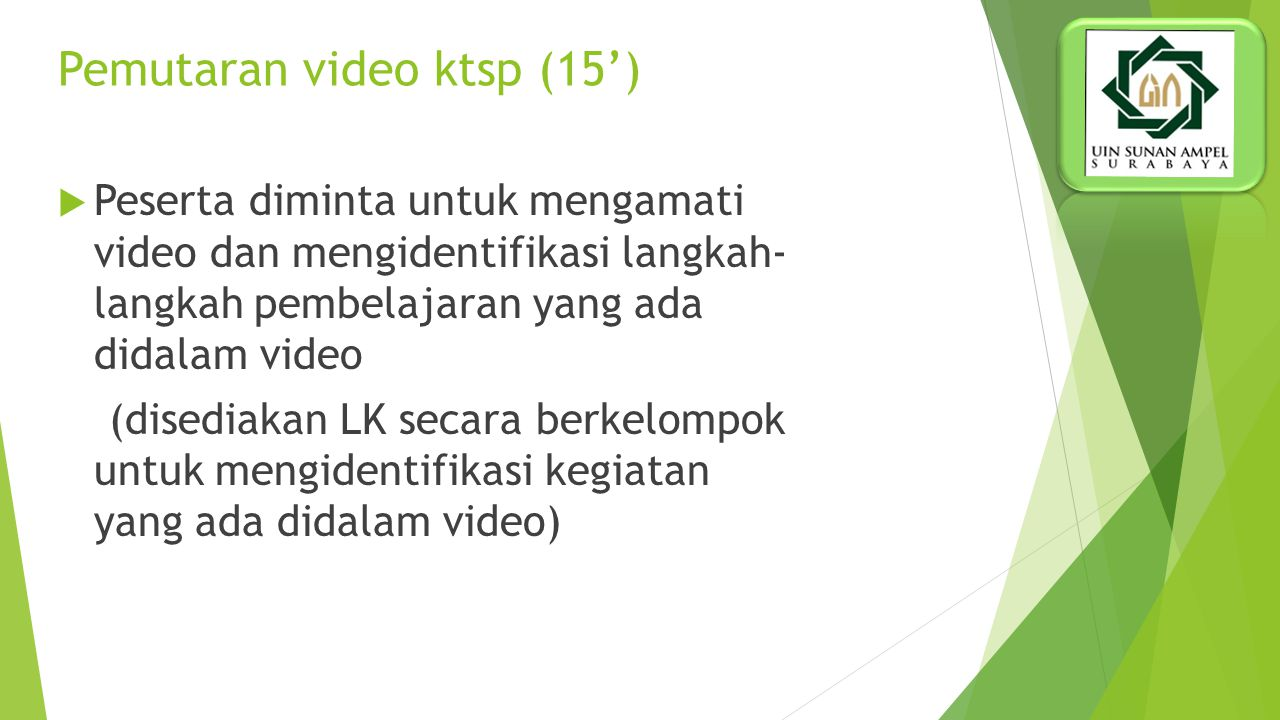 Pemutaran video ktsp (15')
