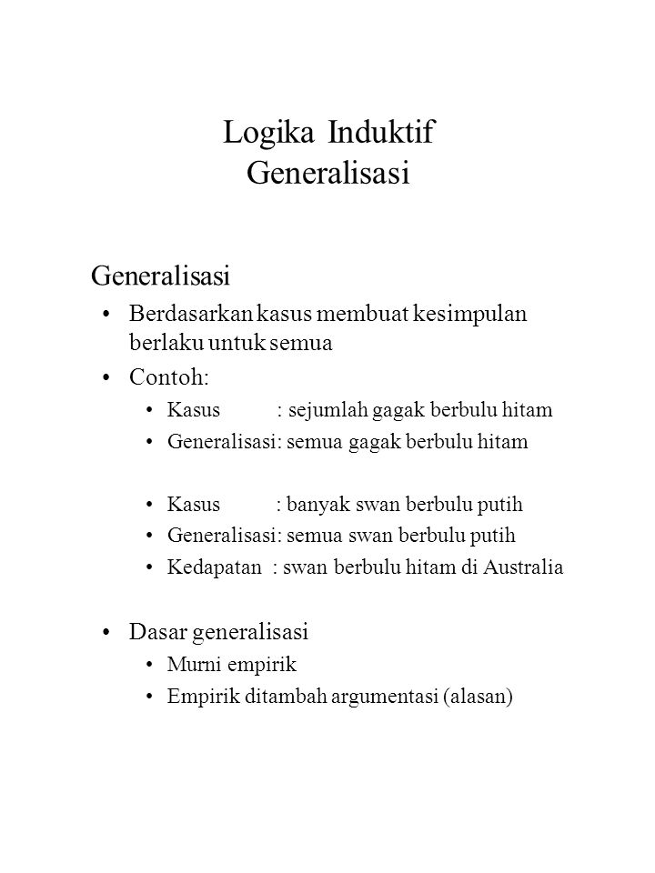Bab 7 Logika Induktif Ppt Download