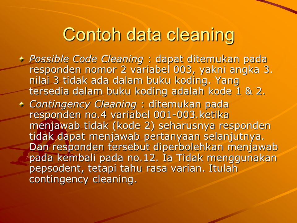 Contoh data cleaning