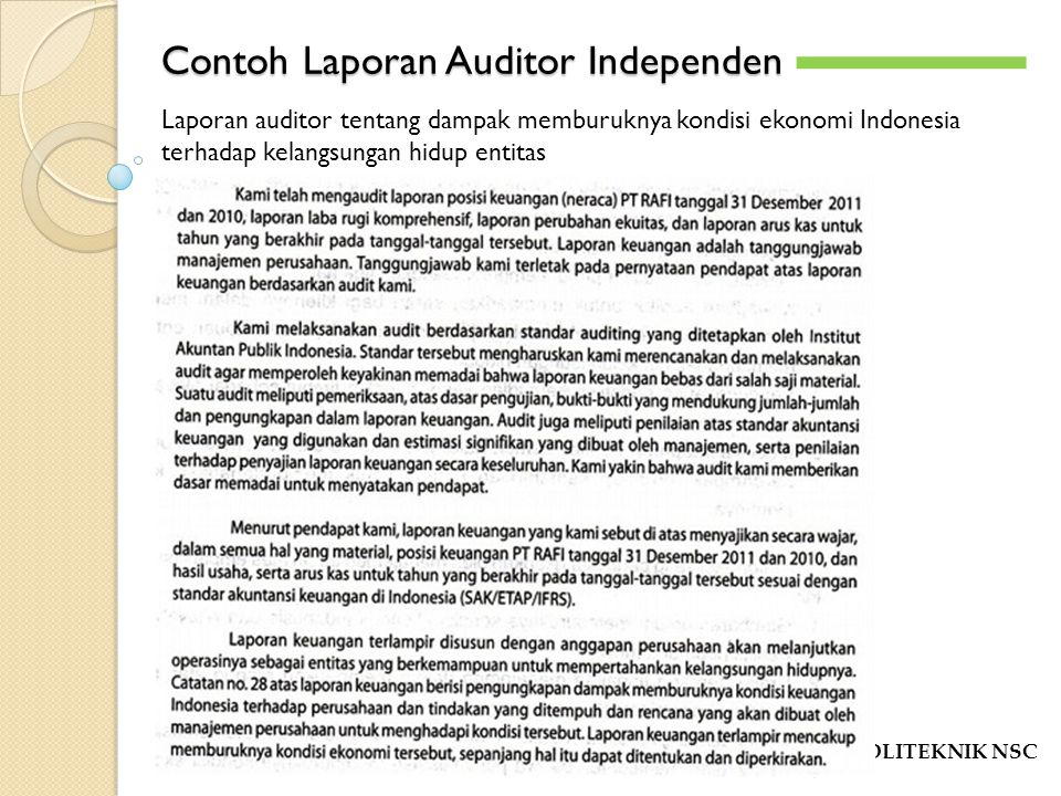Laporan Audit Oleh Muhammad Zainal Abidin Se Ak Mm Ppt Download