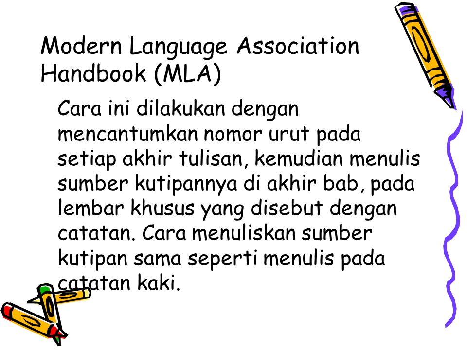 Modern Language Association Handbook (MLA)