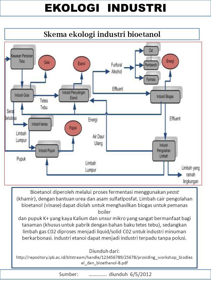 Kajian lingkungan dan pembangunan ppt download skema ekologi industri bioetanol ccuart Gallery