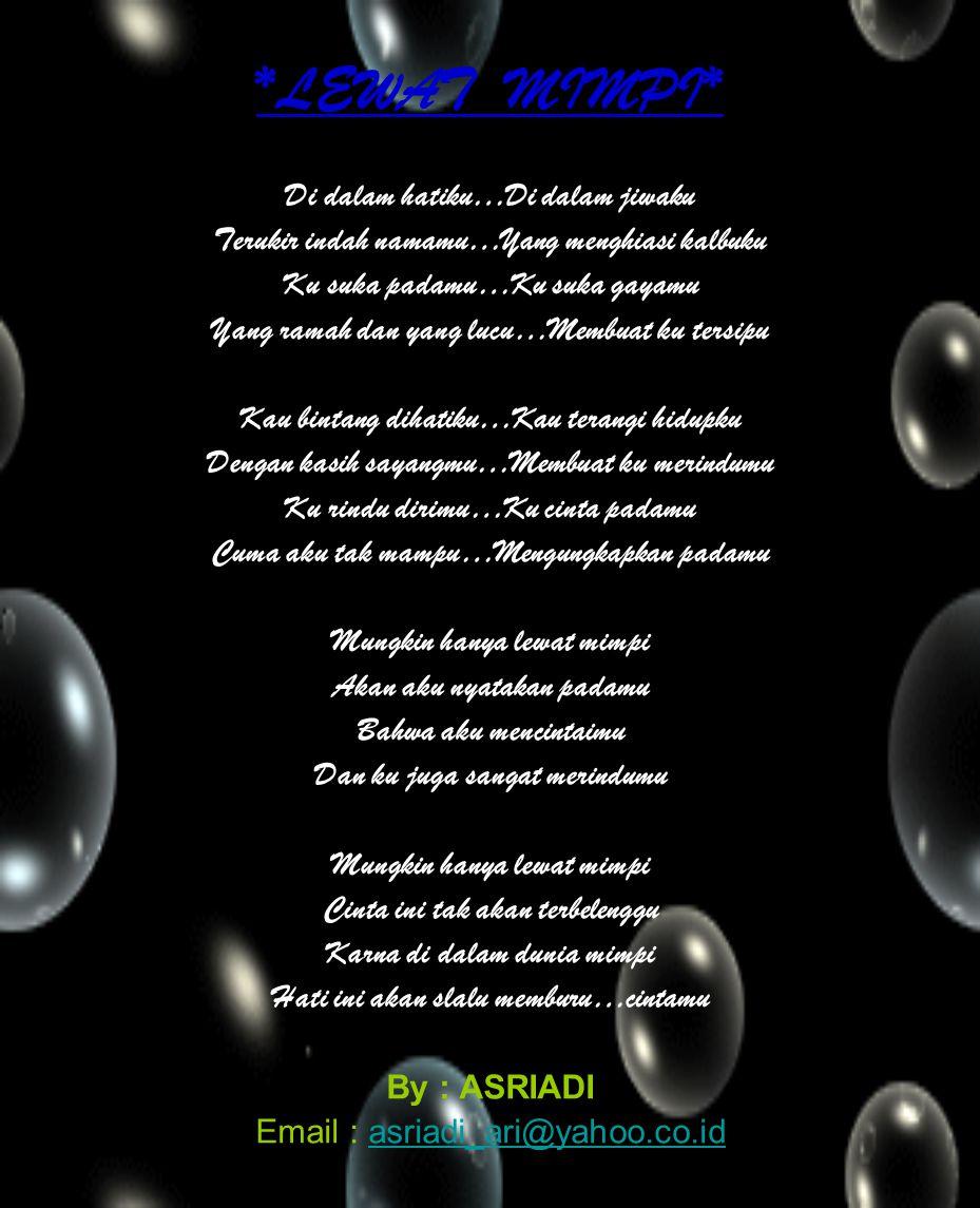 Kumpulan Puisi By Asriadi Ppt Download