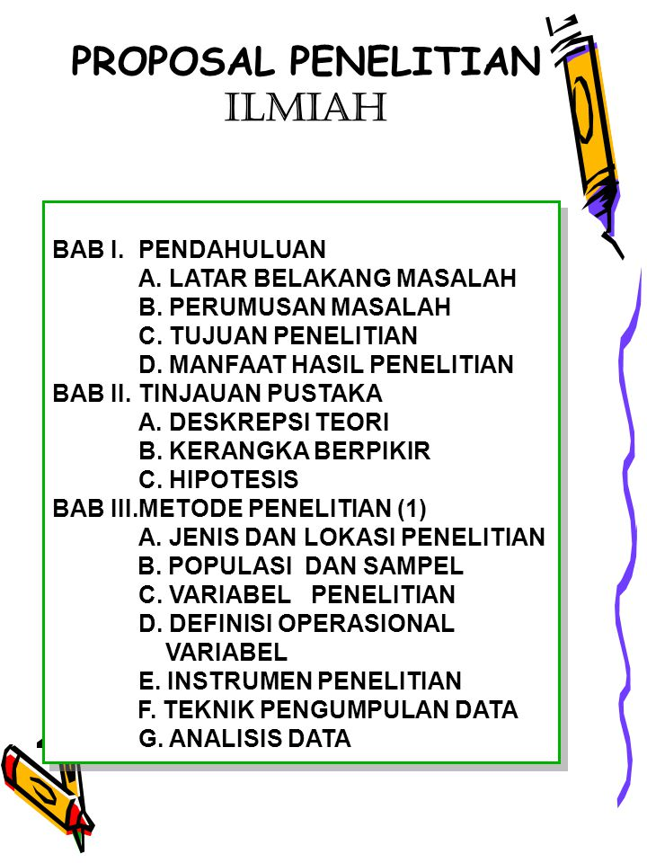 Proposal Penelitian Ilmiah Bab I Pendahuluan Ppt Download