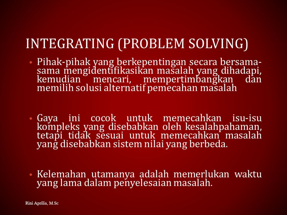 Integrating (problem Solving)