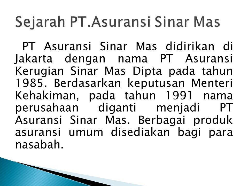 PT Asuransi Sinar Mas Tbk - ppt download