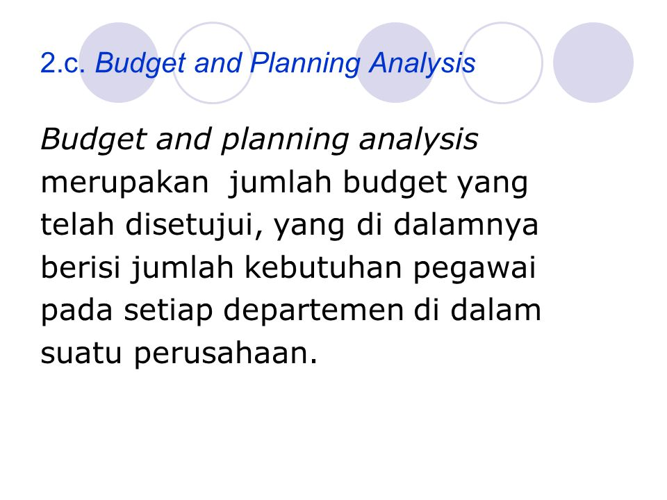 2.c. Budget and Planning Analysis