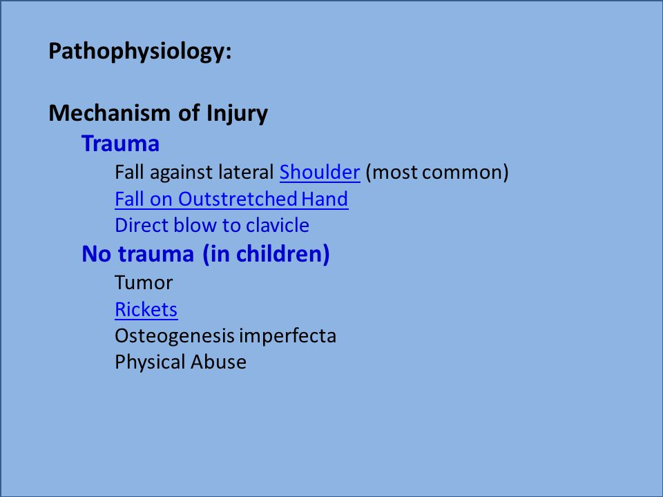No trauma (in children)