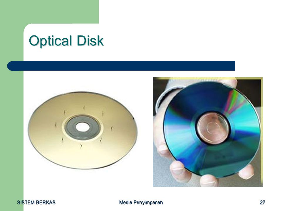 Optical Disk SISTEM BERKAS Media Penyimpanan