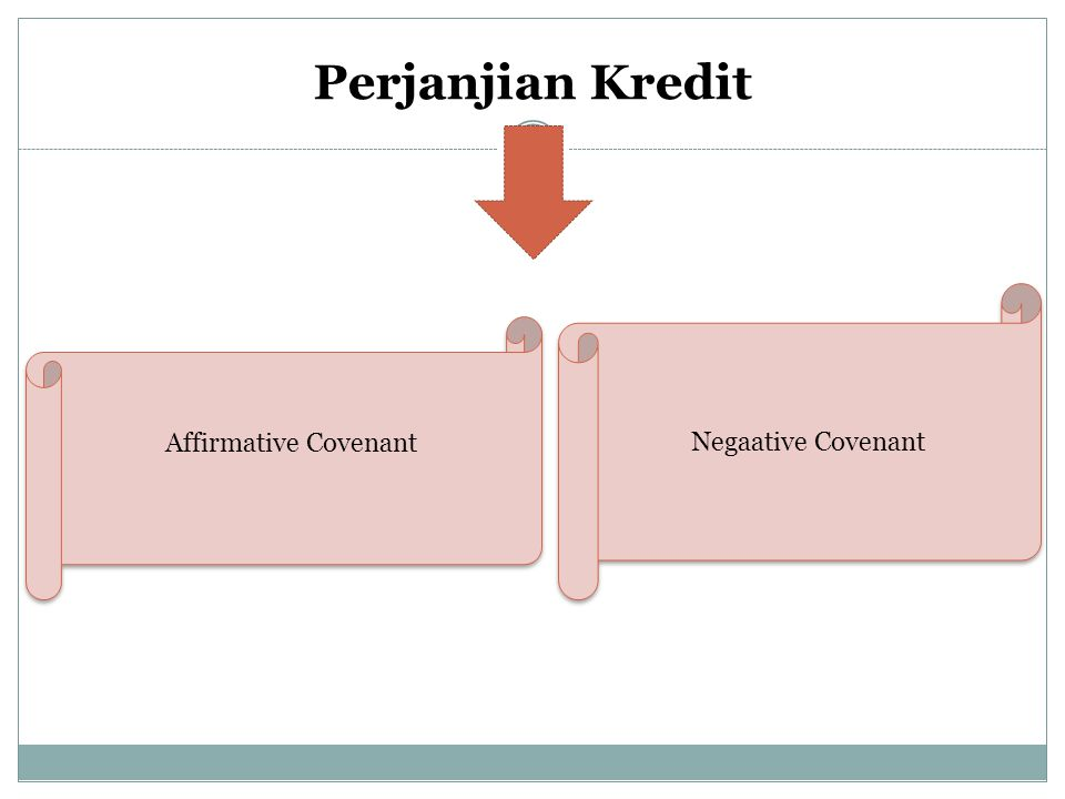 Perjanjian Kredit Negaative Covenant Affirmative Covenant