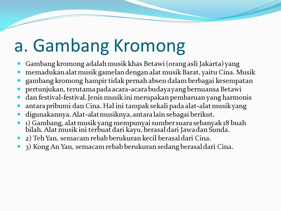 Musik Nusantara Dki Jakarta Ppt Download