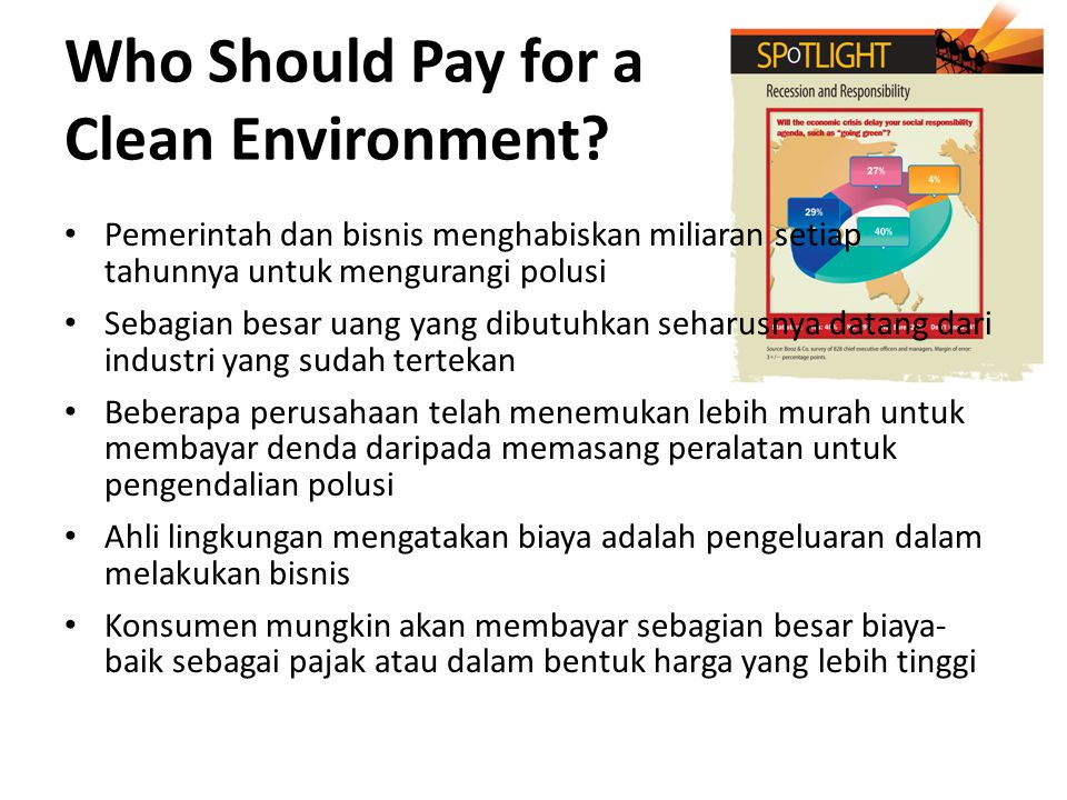 Who Should Pay for a Clean Environment