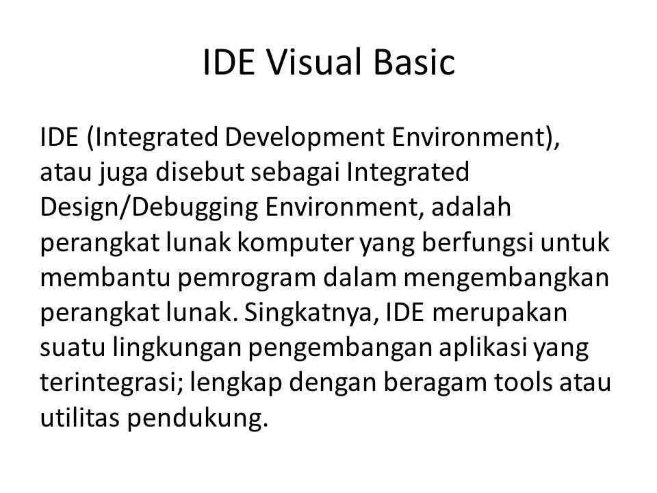 IDE Visual Basic