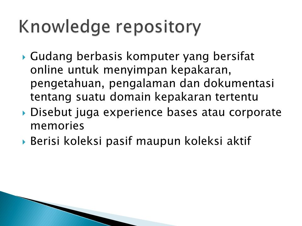Knowledge repository