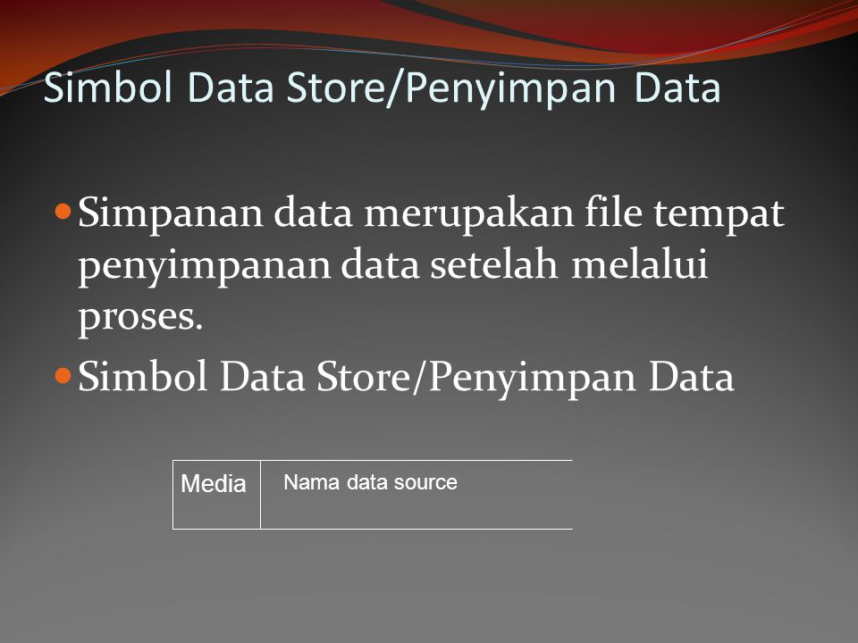 Simbol Data Store/Penyimpan Data