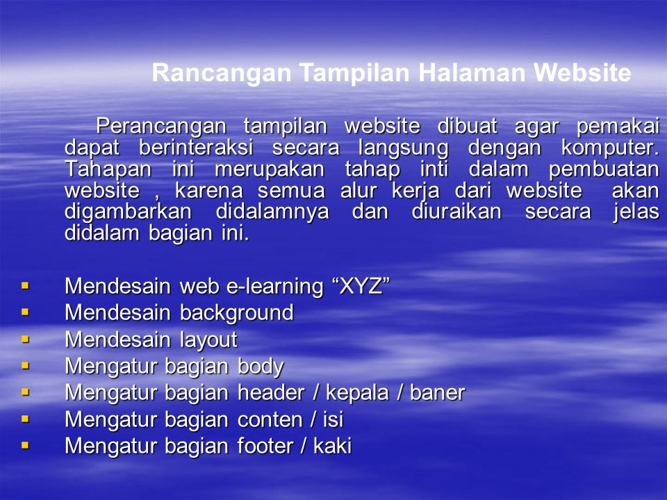 Rancangan Tampilan Halaman Website