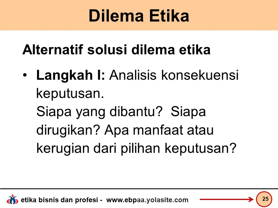 Dilema Etika Alternatif solusi dilema etika