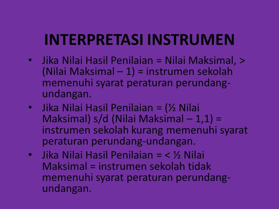INTERPRETASI INSTRUMEN