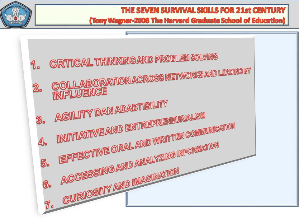 THE SEVEN SURVIVAL SKILLS FOR 21st CENTURY