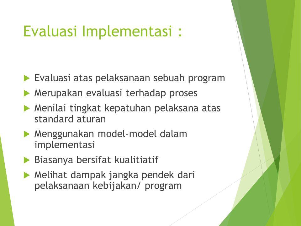 Implementasi Dan Evaluasi Kebijakan Publik Ppt Download