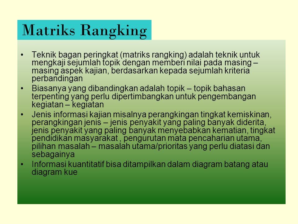 Matriks Rangking