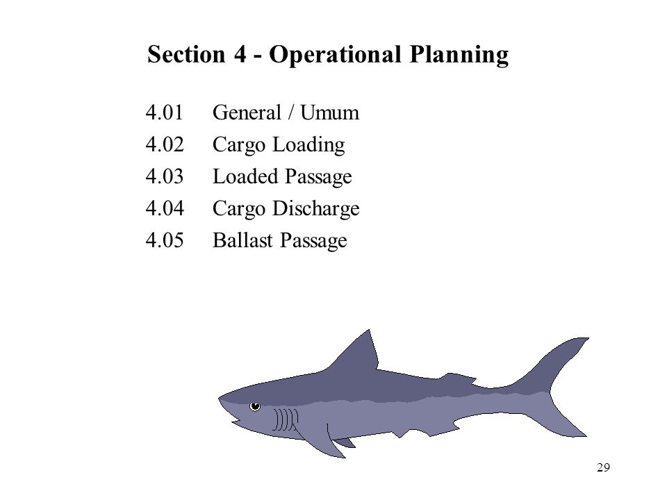 Section 4 - Operational Planning